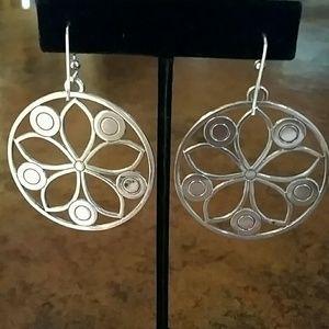 Brighton Jewelry - EUC Brighton Flower French Wire Earrings